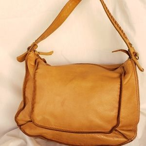 Vintage Lucky Brand Leather Hobo Bag